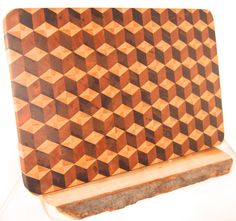 End Grain Cutting Board by RosewellWoodworking on Etsy Tumbling Blocks, End Grain Cutting Board, Wood Crafts, Wood Working, Boards, 3d, Pattern, Handmade, Stuff To Buy