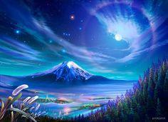 Preciosa imagen nocturna a la que yo llamaría Terra Nocturne.