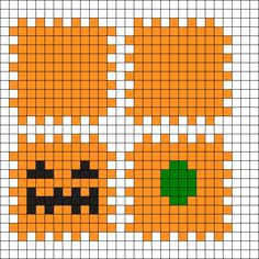 Neat way to make a box. just not for Halloween Perler Bead Designs, Easy Perler Bead Patterns, Melty Bead Patterns, Perler Bead Templates, Hama Beads Design, Diy Perler Beads, Perler Bead Art, Beading Patterns, Pokemon Perler Beads
