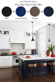 New Kitchen Layout Dimensions Subway Tiles Ideas Blue Kitchen Island, Navy Kitchen, Kitchen Colors, Kitchen Islands, Kitchen Ideas, Kitchen Wood, Kitchen Lamps, Ikea Kitchen, Kitchen Inspiration