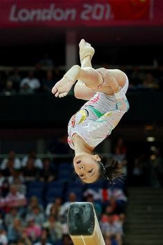 Deng Linlin of China competes on the Artistic Gymnastics Women's Beam final on Day 11 of the London 2012 Olympic Games at North Greenwich Arena on August 7, 2012 in London, England.