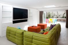 Kensington Home - contemporary - kids - london - Living in Space Interior D, Decor, Home, Interior, Comfy Couch, Green Couch, Home Decor, London Living, Room