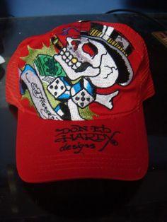 e9dbd494508 ED HARDY TRUCKER BASEBALL CAP HAT SIZE BRAND NEW NWT RED SMOKIN BRAD   fashion