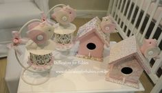 Decoração Passarinho - Dellicatess for Babies Cumpleaños Shabby Chic, Ideas Para Fiestas, Cupcake Party, Baby Art, Little Birds, Baby Accessories, Decoupage, Xmas, Diy Crafts