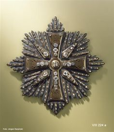 Bruststern des polnischen Weißen Adler-Ordens (Schildpattgarnitur)