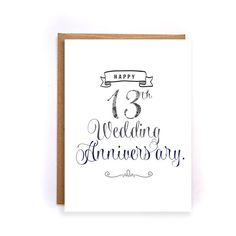 13th anniversary card, lace anniversary card for him, cute handmade greeting cards for husband, lace anniversary gift for him, for man GC79 by artRuss on Etsy