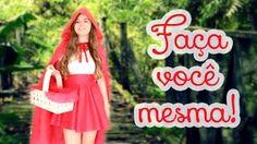 """Como fazer: Fantasia sem """"costura"""" de Chapeuzinho Vermelho para o HALLOWEEN"""