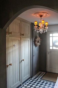 Entry Stairs, Entry Hallway, Cottage Hallway, Hall Interior Design, Old Cottage, Wardrobe Doors, Home Reno, Country Chic, Country Life