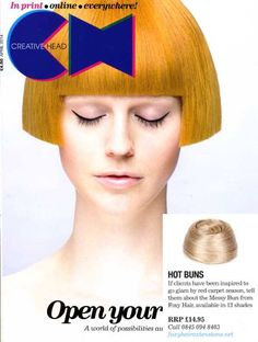 Loved seeing our messy #cliponbun in April's issue of @creativeheadmag! Have you ever tried a clip-on #bun? #hairthatrox #foxyhairextensions #hairextensions