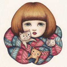 Creature Comforts Greeting Card by Emma Hampton