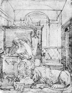 Albrecht Durer >> St Jerome In His Study 2