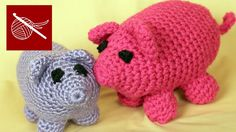 How to crochet an amigurumi pig. Very simple, easy-to-follow video.