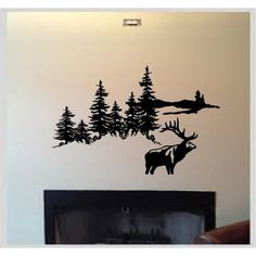 ELK DEER HUNTING OUTDOOR MOUNTAINS VINYL WALL DECAL HOME DECOR AUTO VINYL WALL DECAL STICKER >>> More info could be found at the image url. (This is an affiliate link) #WallStickersMurals