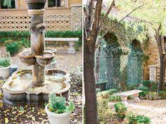 Front fountain and courtyard at Villa Siena | Kelsie Pinkerton Photography | villasiena.cc