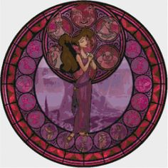 Hercules Stained Glass PDF Cross Stitch Pattern by CSDesignsbyLeah, $5.00