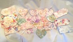 24 Hand Swirl Marble Painted Gift Tags Hearts Rectangle Assorted Color & Size by SueSuesTreasures on Etsy