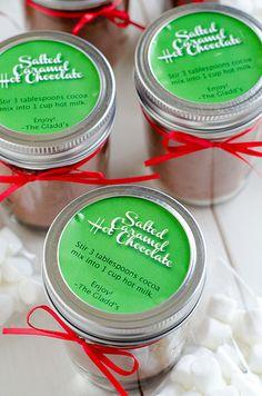 Salted Caramel Hot Chocolate Jars