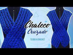 CHALECO MOLDEADOR DE FIGURA! CRUZADO TEJIDO A CROCHET | Canela♥ - YouTube Crochet Poncho, Crochet Cardigan, Crochet Top, Youtube, Crochet Patterns, V Neck, Knitting, Womens Fashion, Sweaters