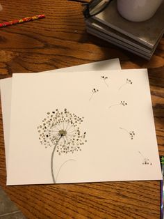 Pebble Art Dandelion