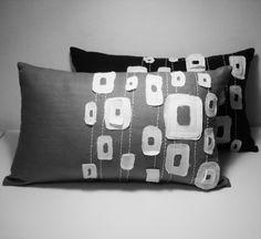 Sukan+/++Gray+White+Pattern+Pillow+Cover++12x20+by+sukanart,+$49.95