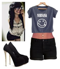 """""""Ootd -Alexa"""" by hemmings-anons-roleplay ❤ liked on Polyvore featuring Giuseppe Zanotti and Pieces"""