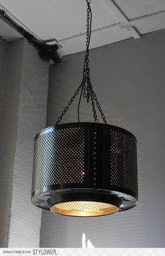 Lampa wisząca eco design loft industrialna z bębna (489… na Stylowi.pl