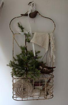 A metal caddy from an English bathhouse - via 52 FLEA: A Peek At The Enchanted Winter Nest 2012