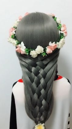 Cute Girls Hairstyles Today, we're gonna be doing a really, really pretty mixed braid, I hope yo Cute Girls Hairstyles, Box Braids Hairstyles, Pretty Hairstyles, Curly Hair Styles, Natural Hair Styles, Braided Half Up, Hair Videos, Braid Styles, Fine Hair