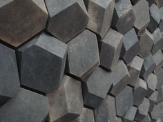 Visions of an Industrial Age: Unique Hexagonal Wall Tiles Wall Patterns, Textures Patterns, Architecture Details, Interior Architecture, Textures Murales, Fond Design, Beton Design, Olafur Eliasson, Tiles Texture