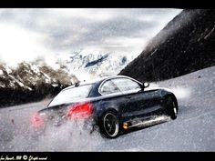 #BMW drifting in the snow