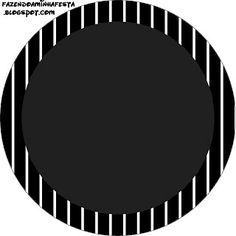 Listras Preto e Branco - Kit Completo com molduras para convites, rótulos para…