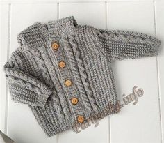 Knit Baby Sweater, Hand Knitted Grey Baby Cardigan, Gray Baby boy Clothes, New Born Baby Gift for Baby Showers, Cable Knit coat Baby Cardigan, Baby Boy Sweater, Knit Baby Sweaters, Boys Sweaters, Baby Knitting Patterns, Knitting For Kids, Baby Patterns, Knitted Coat, Baby Boy Outfits