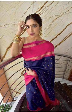 Bollywood Designer Sarees, Designer Silk Sarees, Bollywood Fashion, Bollywood Stars, Bollywood Actress, Bridal Sari, Saree Wedding, Indian Bridal, Silk Sarees Online Shopping