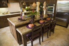 #Kitchen Idea of the Day: Deliciously Dark Walnut-Colored Kitchens.
