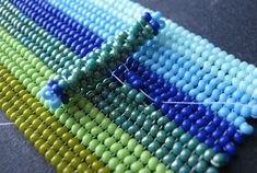 Attaching a Clasp to a Beadwork Cuff Beading Techniques, Beading Tutorials, Beading Patterns, Beaded Jewelry Designs, Wire Jewelry, Beaded Jewellery, Native American Beading, Bead Weaving, Herringbone