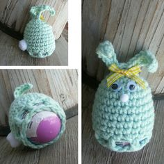 Crochet Easter egg cozy BUNNY Pattern by MalindasDesigns on Etsy, $4.50