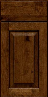 KraftMaid Cabinets -Square Raised Panel-Solid (DAB) Rustic Birch in Cognac from waybuild
