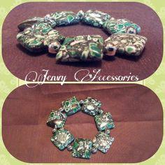 Chunky Stretch Marble Bracelet Limited Edition by JenvyAccessories, $8.00