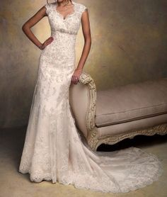 The new lace wedding dresses heartshaped by perfectpromdress, $199.00