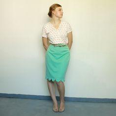 Tutorial: Scalloped Hem Skirt