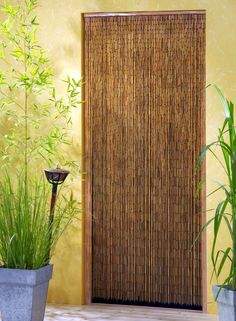 Hanging Bamboo Curtain Looks Like A Real Door And Can Be Hung On Wall Or  Entryway And Itu0027s Hand Painted From Vietnam! | Decor | Pinterest | Bamboo  Curtains, ...