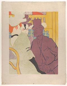 The Englishman at the Moulin Rouge - 1892 - Henri de Toulouse-Lautrec (French, Albi 1864–1901 Saint-André-du-Bois)