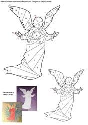 View Christmas Angel Iris Folding Pattern Details