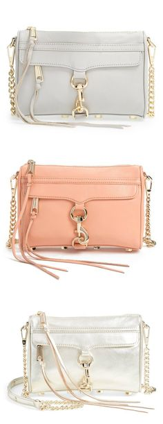#Handbags #RebeccaMinkoff Obsessed with these cute Rebecca Minkoff crossbody bags.