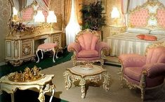 Baroque pink interior design