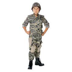 Boys' U.S. Army Ranger Deluxe Costume Small (4-6), Boy's, Size: S(4-6), Multicolored