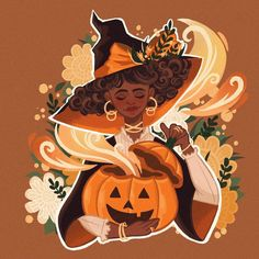 """Adora_illustration on Instagram: """"Witchtober Day1: PUMPKIN 🎃 So! I joined @itslopez 's witchtober prompt! I really hope I can finish it though... it's my first time joining…"""" Itslopez, Hufflepuff Pride, Prompts, First Time, I Can, Pumpkin, Canning, Illustration, Instagram"""