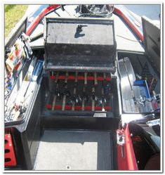 Best Boat Organization Ideas To Keep Your Boat Clean: 55 Excellent Ideas Bass Fishing, Fishing Boats, Fishing Tips, Fishing Stuff, Bass Boat Ideas, Boat Organization, Boat Cleaning, Boat Restoration, Boat Storage