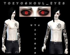 Tokyo Ghoul Eyes at DecayClown's Sims