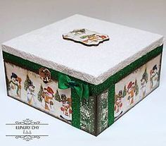 Krabičky - Vianočná krabička/šperkovnička GREEN - 4808085_